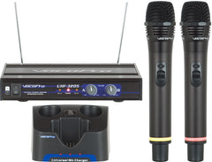 VocoPro: UHF-3205<br>Wireless UHF Dual-Channel Rechargeable Mic System - Seattle Karaoke - VocoPro - Microphones - 1