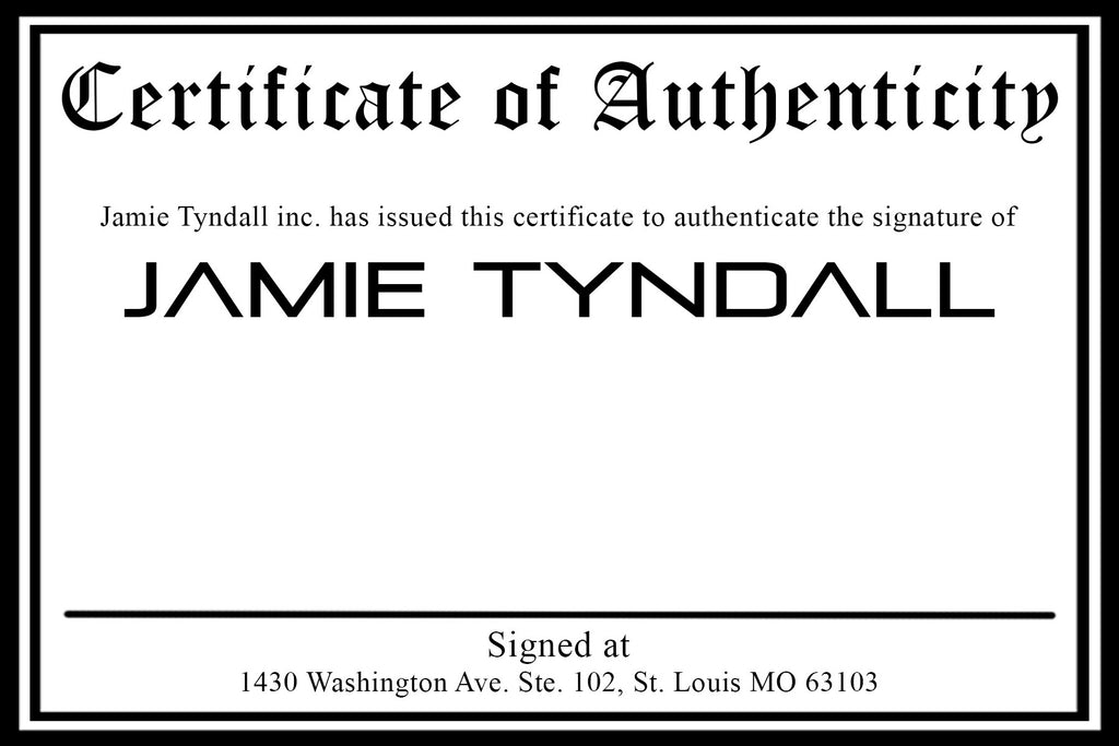 Certificate of Authenticity Add On