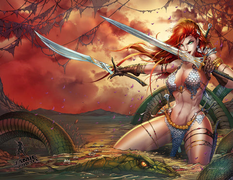 2021 Invincible Red Sonja #2 Virgin