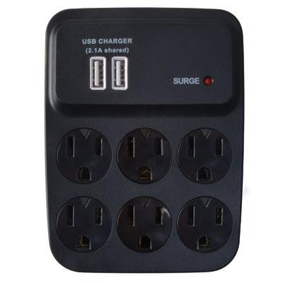 WW USB Charger Surge 6 Outlet - Coleman Cable - 0410527821 - Humble Brothers