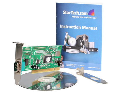1 Port PCI Serial Adapter Card - Startech.com - PCI1S550LP - Humble Brothers  - 1