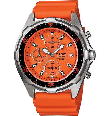 100M WR Chrono Watch Orange - Casio - AMW380-4AV - Humble Brothers