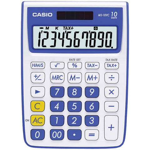 10-Digit Calculator (Blue) - CASIO - MS-10VC-BE - Humble Brothers