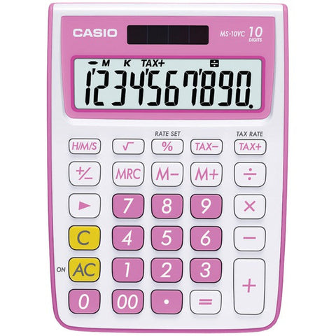 10-Digit Calculator (Pink) - CASIO - MS-10VC-PK - Humble Brothers