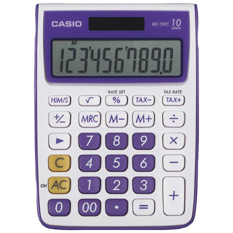 10-Digit Calculator (Purple) - CASIO - MS-10VC-PL - Humble Brothers