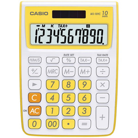 10-Digit Calculator (Yellow) - CASIO - MS-10VC-YW - Humble Brothers