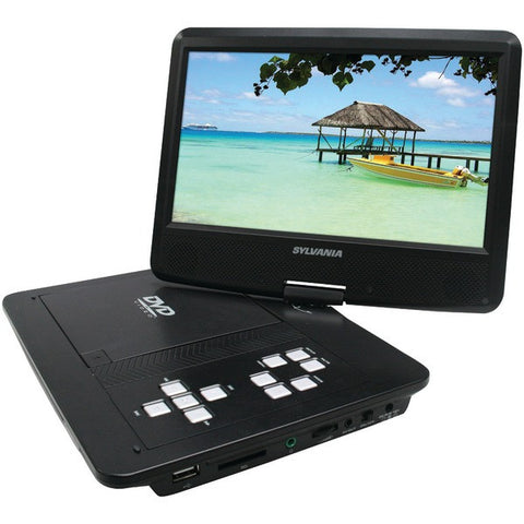 "10"" Swivel-Screen Portable DVD Player - SYLVANIA - SDVD1030 - Humble Brothers"