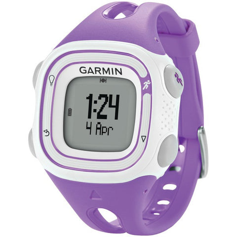 Forerunner(R) 10 GPS-Enabled Running Watch (Violet/White) - GARMIN - 010-01039-17 - Humble Brothers