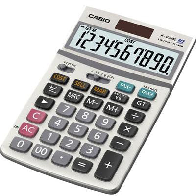 10 Digit Desk Top Calculator - Casio - JF100MS - Humble Brothers