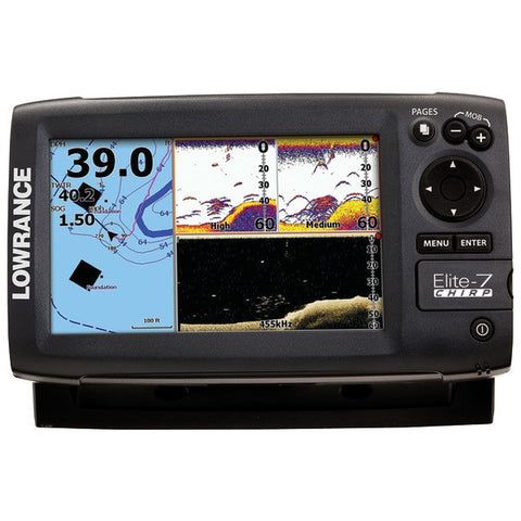 Elite-7 CHIRP Fishfinder with CO BA XD Skimmer(R) Transducer - LOWRANCE - 000-11665-001 - Humble Brothers