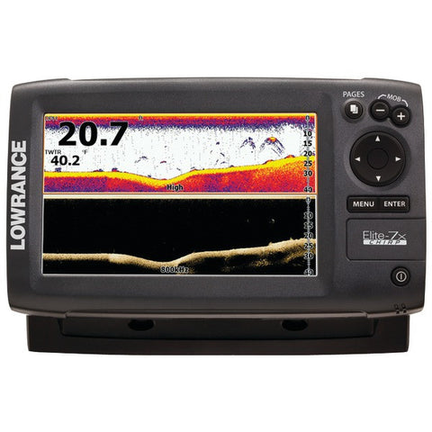 Elite-7x CHIRP Fishfinder with 83/200 + 455/800kHz Transducer - LOWRANCE - 000-11668-001 - Humble Brothers