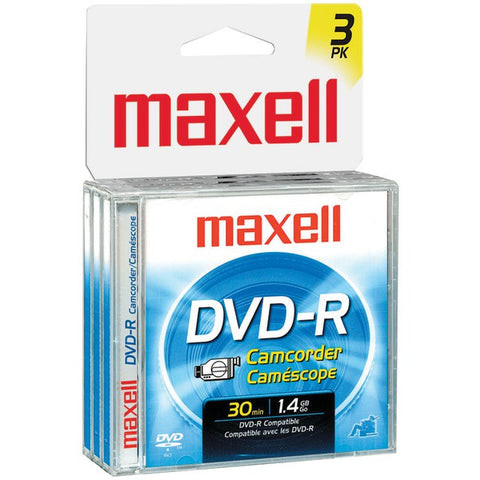 1.4GB Camcorder DVD-Rs, 3 pk - MAXELL - 567622 - DVDRCJC3PK - Humble Brothers