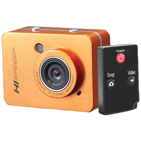 12.0 Megapixel 1080p Action Camera with 2.4'' Touchscreen (Orange) - PYLE-SPORTS - PSCHD60OR - Humble Brothers
