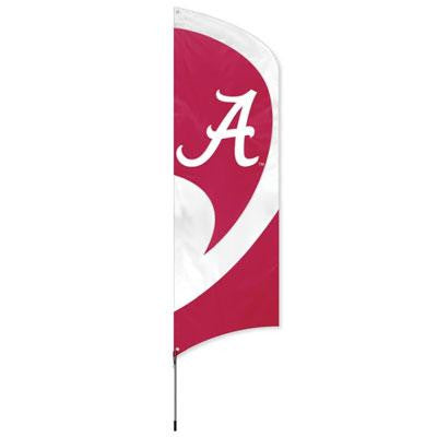 Alabama Tall Team Flag w Pole - Party Animal - TTAL - Humble Brothers