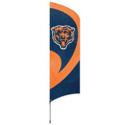Bears Tall Team Flag w Pole - Party Animal - TTCH - Humble Brothers