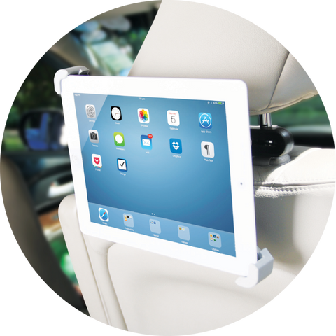 Lil Gadgets, LilGadgets, LilGadgets CarBuddy, LilGadgets CarBuddy Universal Headrest Mount, car mount, ipad holder, tablet mount, tablet mount for car, headrest mount, car accessory