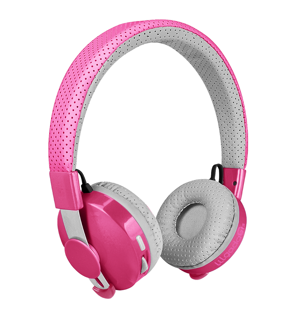 Lil Gadgets, LilGadgets, Lil Gadgets headphones, Kids headphones, LilGadgets Untangled Pro Children's Wireless Bluetooth Headphones for Kids, Pink LilGadgets Untangled Pro Children's Wireless Bluetooth Headphones for Kids, LilGadgets Untangled Pro Children's Wireless Bluetooth Headphones for Kids Pink, Cool kids headphones, cool headphones for kids, awesome headphones for kids, shareport, pink headphones for kids, wireless