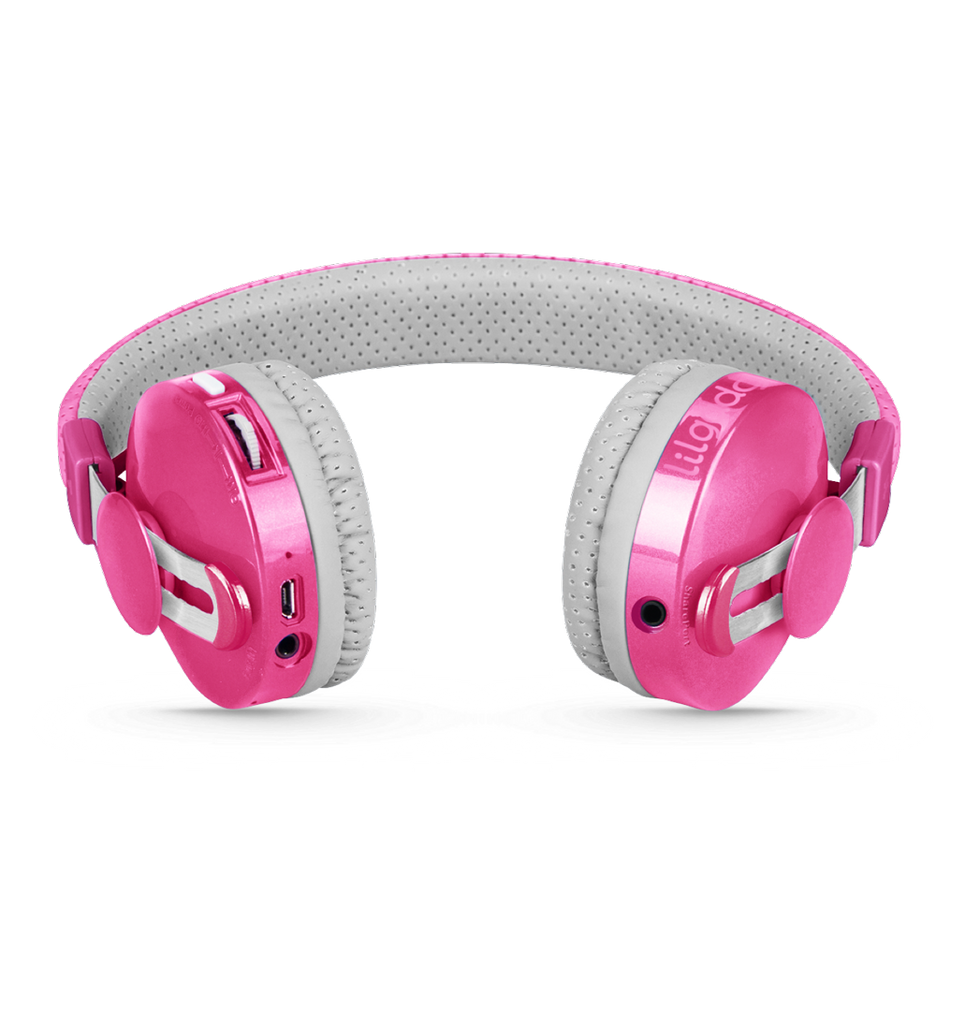 Lil Gadgets, LilGadgets, Lil Gadgets headphones, Kids headphones, LilGadgets Untangled Pro Children's Wireless Bluetooth Headphones for Kids, Pink LilGadgets Untangled Pro Children's Wireless Bluetooth Headphones for Kids, LilGadgets Untangled Pro Children's Wireless Bluetooth Headphones for Kids Pink, Cool kids headphones, cool headphones for kids, awesome headphones for kids, shareport, pink headphones for kids, wirele