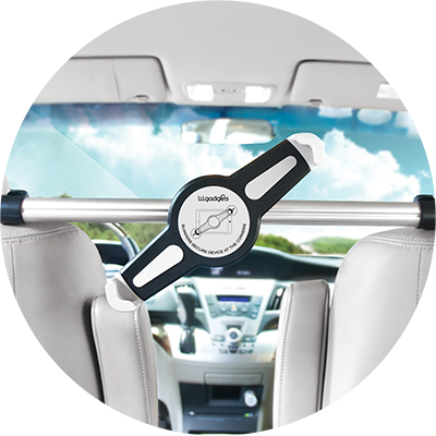 Lil Gadgets, LilGadgets, LilGadgets CarBuddy Shared, LilGadgets CarBuddy Universal Headrest Mount For Two, car mount, ipad holder, tablet mount, tablet mount for car, headrest mount, car accessory, kids share