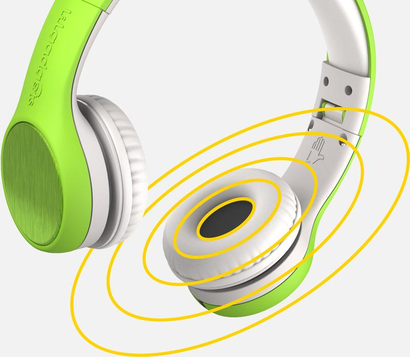 Lil Gadgets, LilGadgets, Lil Gadgets headphones, volume limited headphones, volume limited headphones for kids, volume limited headphones for children, best volume limited headphones for kids, best volume limited headphones for children, clear sound, clearest sound, 40mm drivers, 20hz, green headphones, LilGadgets Connect+ Volume Limited Wired Headphones, shareport, cool kids headphones, cool headphones for kids, awesome headphones for kids, cool design, tablet, ipad, iphone, best sound quality