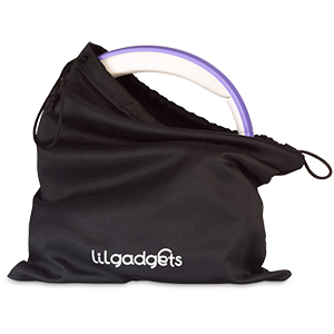 Lil Gadgets, LilGadgets, Lil Gadgets headphones, best headphones for travel, microfiber, microfiber pouch, travel pouch, black pouch, black travel pouch, headphone storage