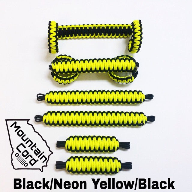 Jeep Wrangler YJ Deluxe Paracord Set in Neon Yellow