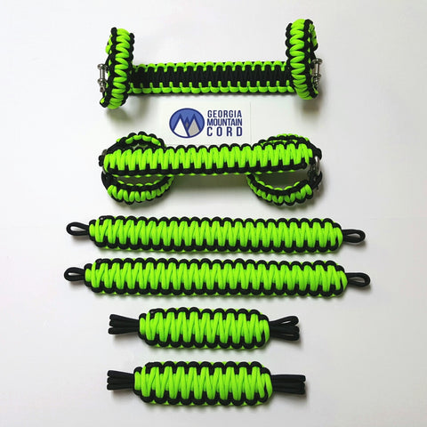 Jeep Wrangler YJ Deluxe Paracord Set in Neon Green