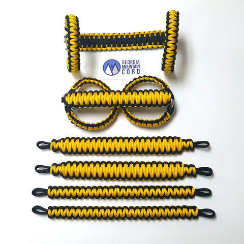 Paracord Grab Handles Roll-Bar Mount Full Set Jeep JK/JKU in Yellow