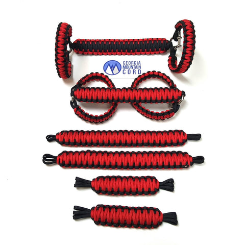 Jeep Wrangler YJ Deluxe Paracord Set in Imperial Red