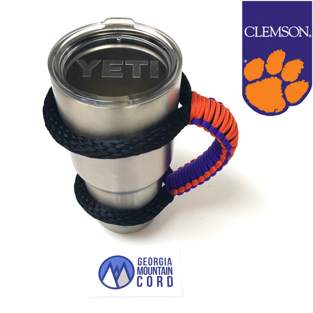 Yeti Handle in Clemson Tigers colors