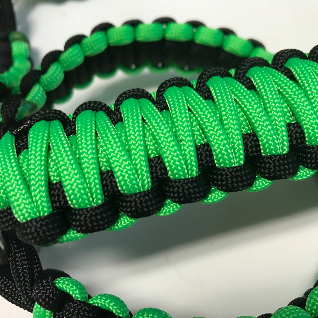 Paracord Grab Handles Roll-Bar Mount Full Set Jeep JK/JKU in Neon Green