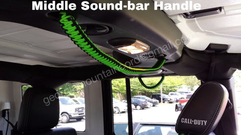 Custom XL Long Paracord Jeep Center Soundbar Grab Handle