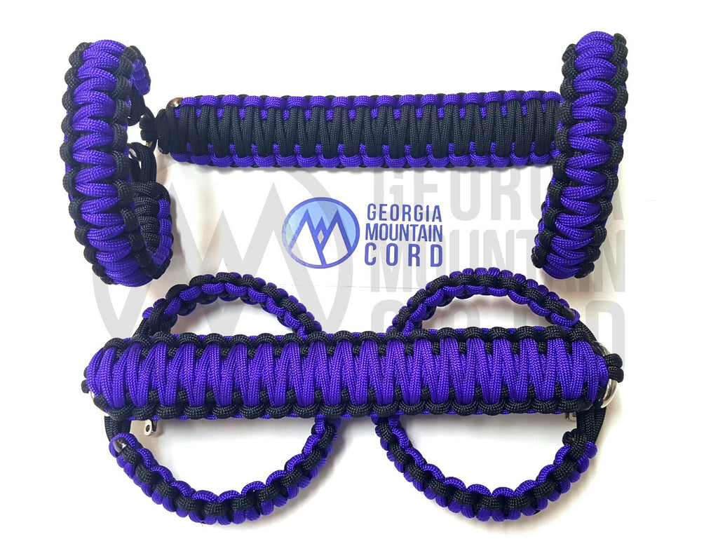 Paracord Front Grab Handles Roll-Bar Mount for Jeep Wrangler TJ Acid Purple