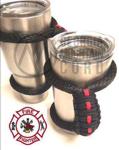 Yeti Handle in Firefighter Thin Red Line