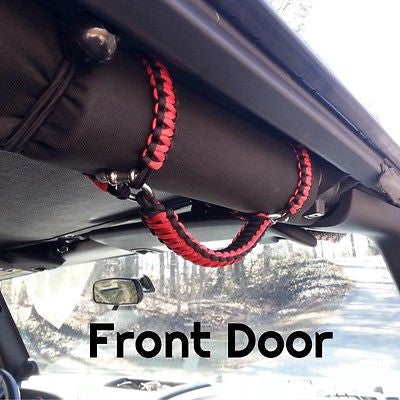 Jeep Wrangler YJ Roll-bar Handles in Imperial Red