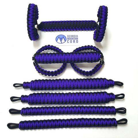 Paracord Grab Handles Roll-Bar Mount Full Set Jeep JK/JKU in Acid Purple