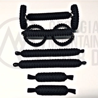 Jeep Wrangler TJ/LJ Deluxe Paracord Set in SOLID Black
