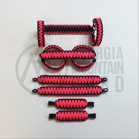 Jeep Wrangler TJ/LJ Deluxe Paracord Set in Neon Pink