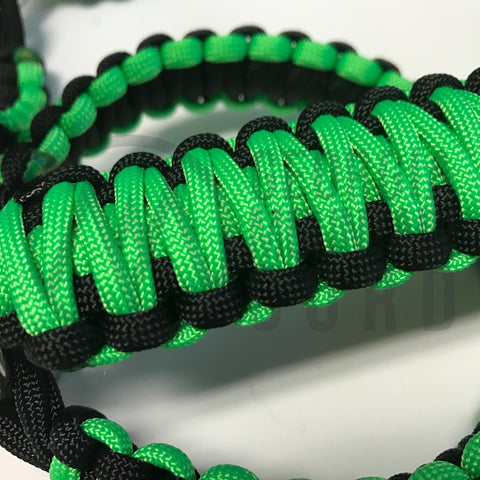 Paracord Front Grab Handles Roll-Bar Mount for Jeep Wrangler TJ Neon Green