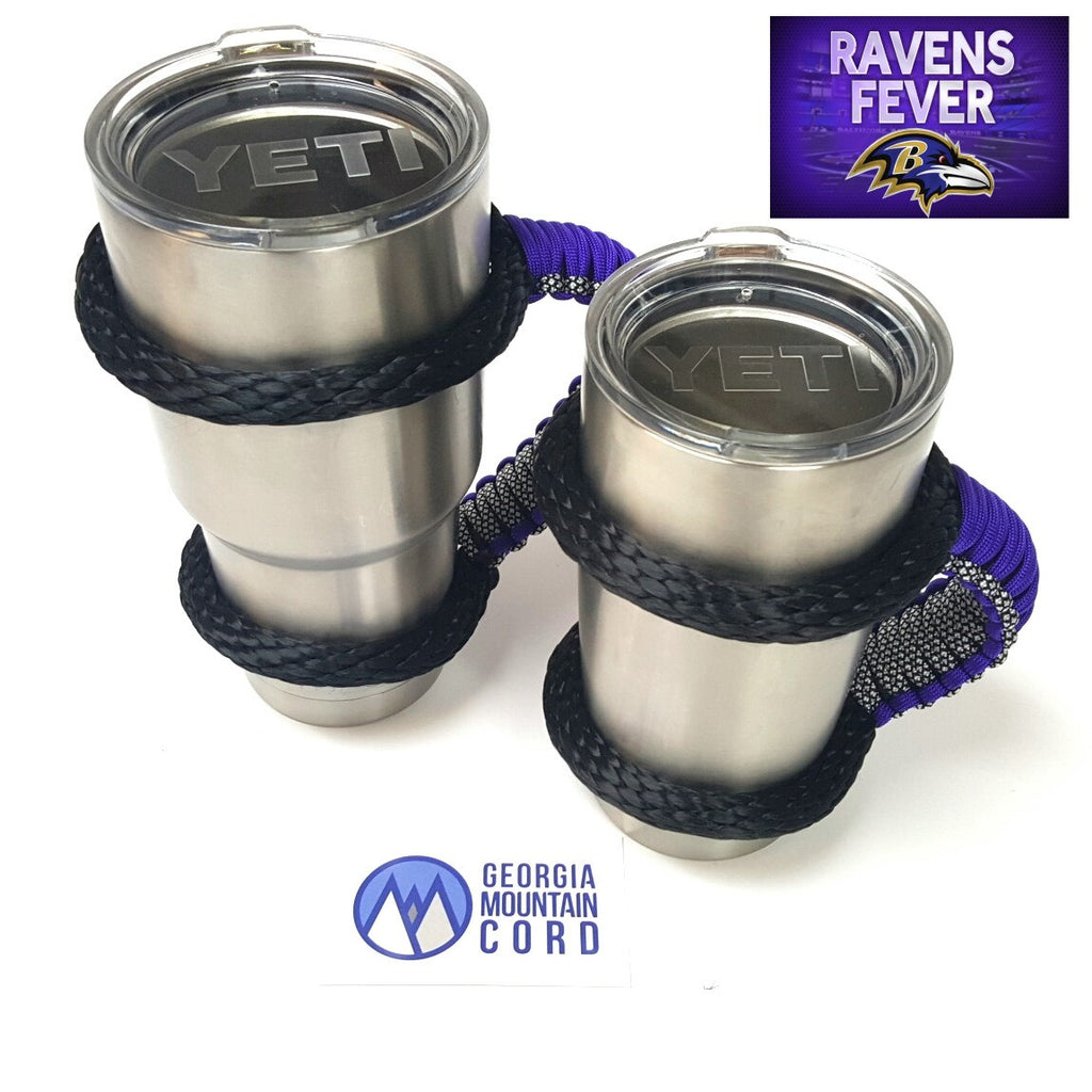 Yeti Handle in BALTIMORE RAVENS colors