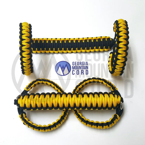 Paracord Front Grab Handles Roll-Bar Mount for Jeep Wrangler TJ Yellow