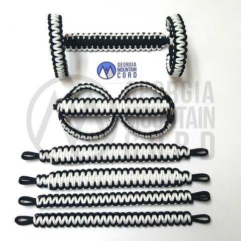 Paracord Grab Handles Roll-Bar Mount Full Set Jeep JK/JKU in White