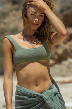 Khaki Minnie Top