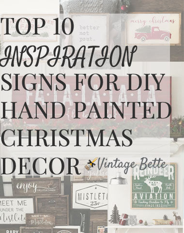 Top 10 Signs to Hand Paint for the Holidays