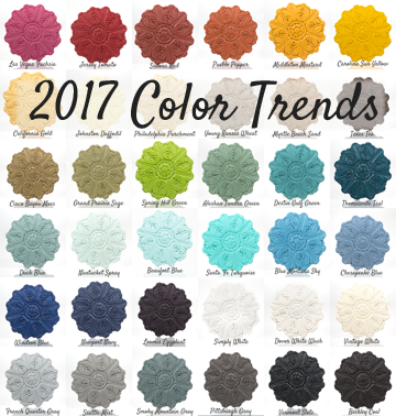 2017 Color Trends--Get the look with CeCe Caldwell's Paints from Vintage Bette