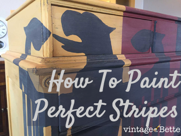 How To Paint Perfect Stripes On Painted Furniture Projects