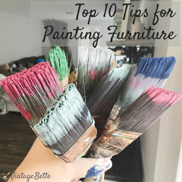 Top 10 Tips for Painting Furniture