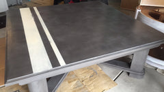 coffee table painted with CeCe's Pittsburgh Gray, vintage White and finished with Clear Wax