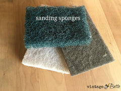 Finishing sponges to prep your wood project for CeCe Caldwell's Stain & Finish in colorado