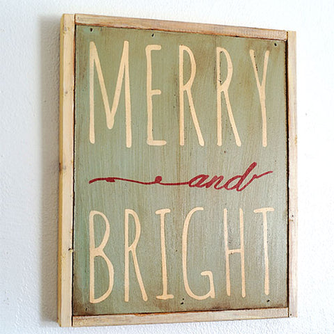 paint a sign with cece caldwell's chalk + clay paints from vintage bette for your holiday